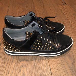 Men's black and gold Versace sneakers